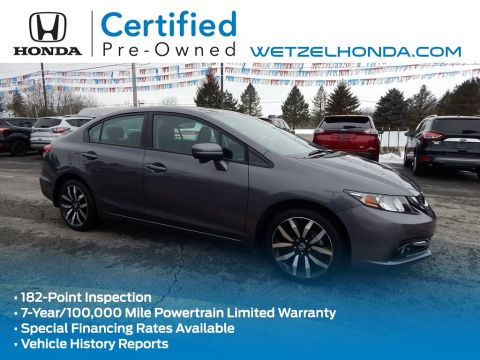 Certified Pre-Owned 2015 Honda Civic EX-L