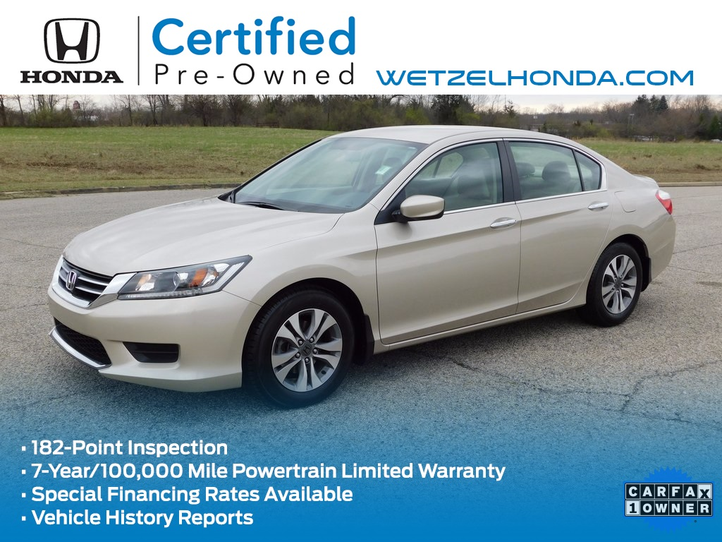 Certified pre owned 2014 honda accord lx 4d sedan in for Honda used certified