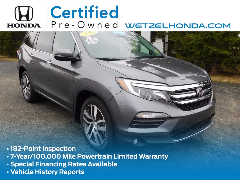 certified pre owned 2016 honda pilot elite 4d sport