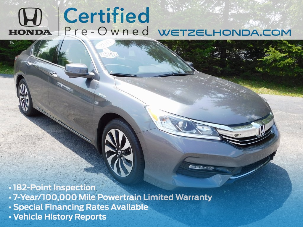 Certified pre owned 2017 honda accord hybrid 4d sedan in for Honda used certified